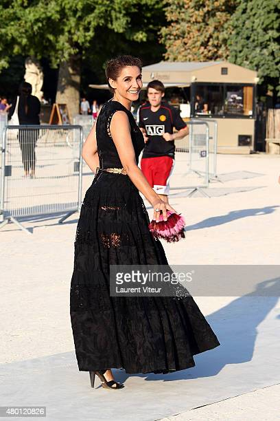 Actress Clotilde Courau is seen in Le Jardin des Tuileries on July 9, 2015 in Paris, France.