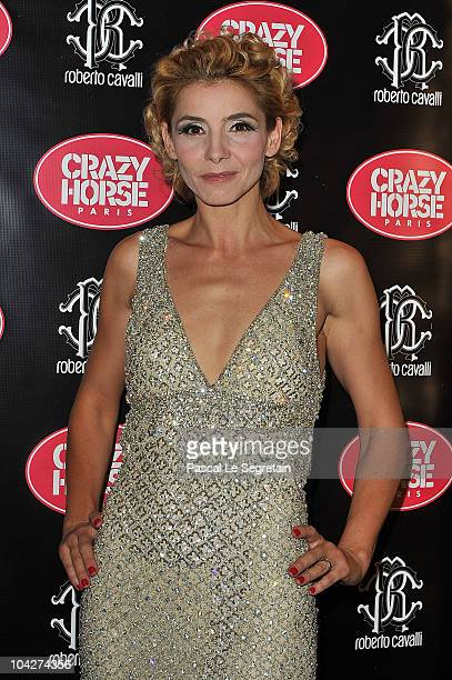 Actress Clotilde Courau poses during a photo call at Le Crazy Horse on September 19, 2010 in Paris, France.