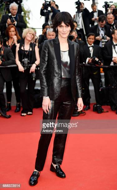 Actress Clotilde Hesme attends the 'Twin Peaks' screening during the 70th annual Cannes Film Festival at Palais des Festivals on May 25 2017 in...