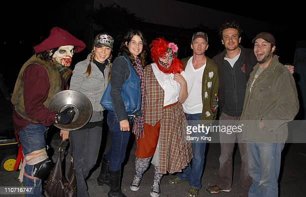 COVERAGE* Actress Cobie Smulders actor Neil Patrick Harris actor Jason Segel singer/TV host Becky Baeling and friends visit Knott's Scary Farm's 35th...