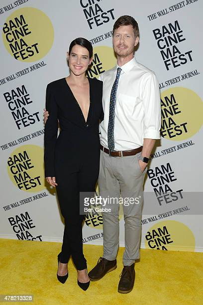 """Actress Cobie Smulders and actor Anders Holm attend the """"Unexpected"""" premiere during BAMcinemaFest 2015 at the BAM Peter Jay Sharp Building on June..."""