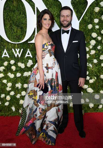 Actress Cobie Smulders and actor Taran Killam attend the 2017 Tony Awards at Radio City Music Hall on June 11 2017 in New York City