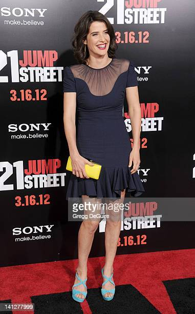Actress Cobie Smulders arrives at '21 Jump Street' Los Angeles Premiere at Grauman's Chinese Theatre on March 13 2012 in Hollywood California