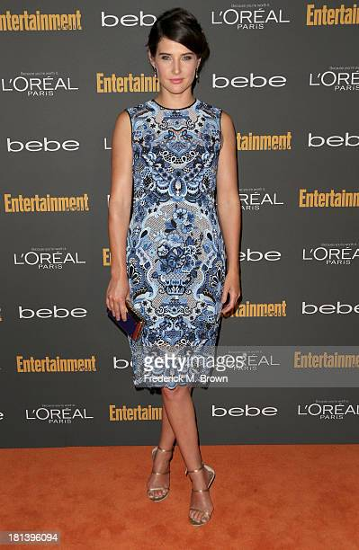 Actress Cobie Smulders arrives at Entertainment Weekly's Pre-Emmy Party at Fig & Olive Melrose Place on September 20, 2013 in West Hollywood,...