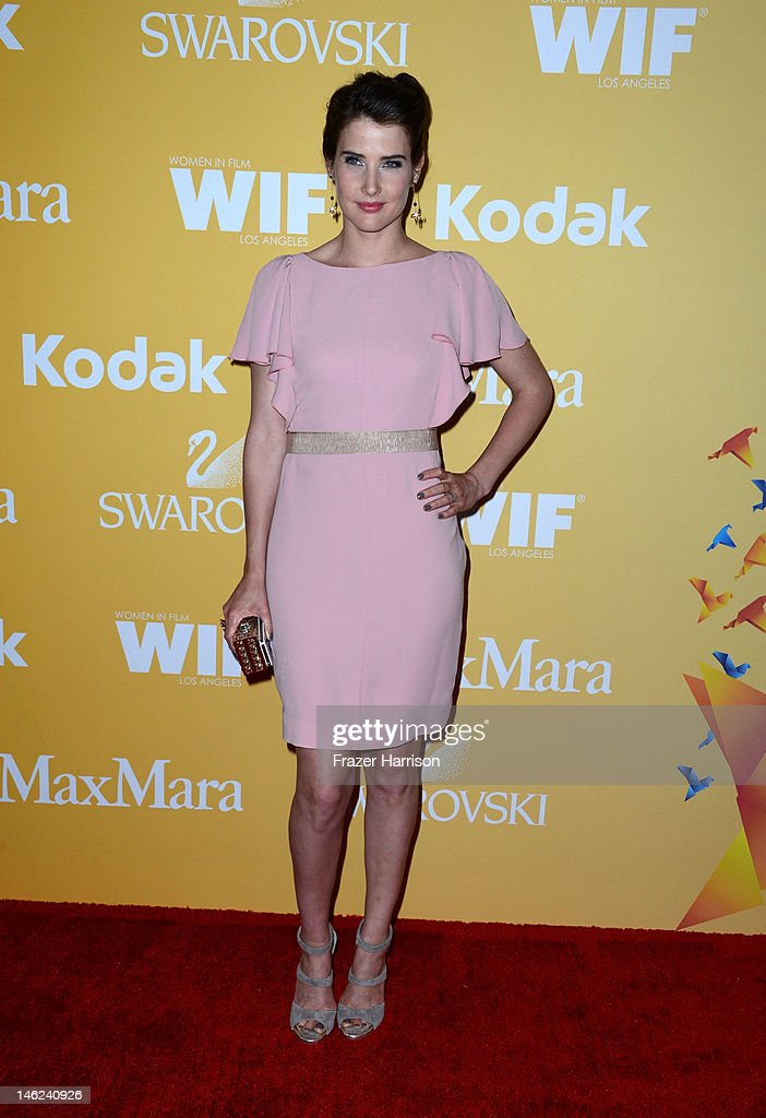 Actress Cobie Smulders arrives at the 2012 Women In Film Crystal + Lucy Awards at The Beverly Hilton Hotel on June 12, 2012 in Beverly Hills, California.