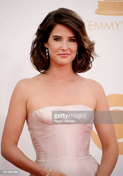 Actress Cobie Smulders arrives at the 65th Annual Primetime Emmy Awards held at Nokia Theatre LA Live on September 22 2013 in Los Angeles California