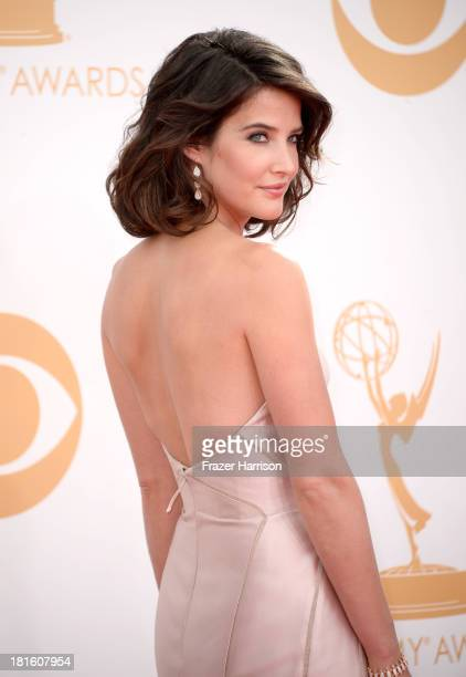 Actress Cobie Smulders arrives at the 65th Annual Primetime Emmy Awards held at Nokia Theatre L.A. Live on September 22, 2013 in Los Angeles,...