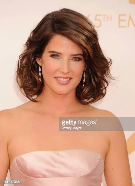 Actress Cobie Smulders arrives at the 65th Annual Primetime Emmy Awards at Nokia Theatre LA Live on September 22 2013 in Los Angeles California