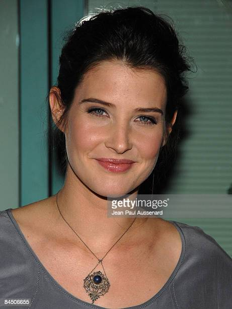 Actress Cobie Smulders arrives at the 'How I Met Your Mother' panel held at the Leonard H Goldenson Theatre on January 27th 2009 in North Hollywood...