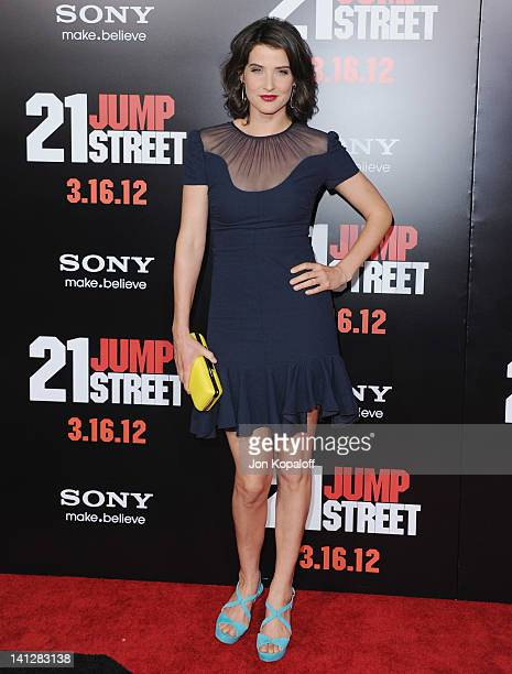 Actress Cobie Smulders arrives at the Los Angeles Premiere '21 Jumpstreet' at Grauman's Chinese Theatre on March 13 2012 in Hollywood California
