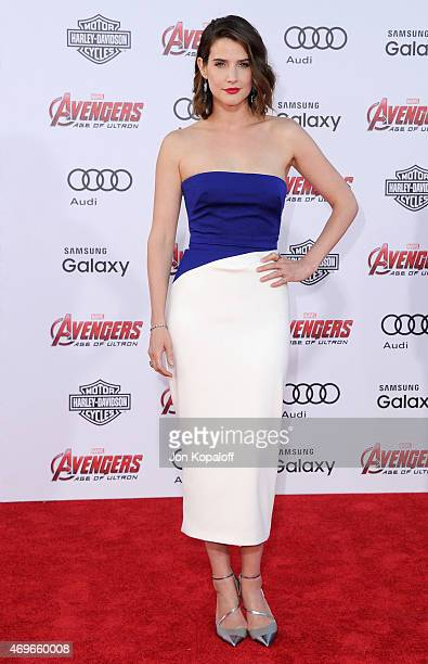 Actress Cobie Smulders arrives at the Los Angeles Premiere Marvel's 'Avengers Age Of Ultron' at Dolby Theatre on April 13 2015 in Hollywood California