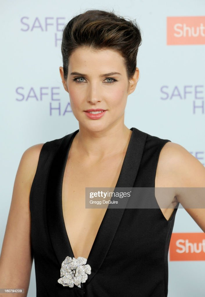 Actress Cobie Smulders arrives at the Los Angeles premiere of 'Safe Haven' at TCL Chinese Theatre on February 5, 2013 in Hollywood, California.