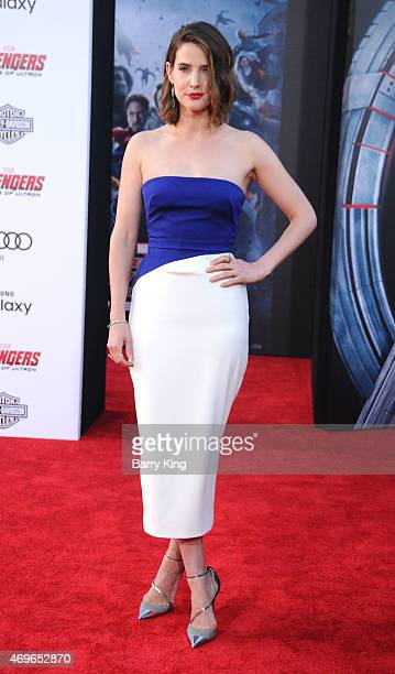 Actress Cobie Smulders arrives at the Premiere Of Marvel's 'Avengers Age Of Ultron' at the Dolby Theatre on April 13 2015 in Hollywood California