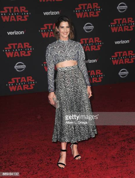 Actress Cobie Smulders arrives for the Premiere Of Disney Pictures And Lucasfilm's Star Wars The Last Jedi held at The Shrine Auditorium on December...