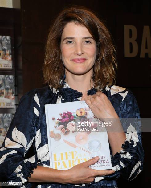 "Actress Cobie Smulders attends David Burtka's signing of his new book ""Life Is A Party"" at Barnes & Noble at The Grove on April 18, 2019 in Los..."