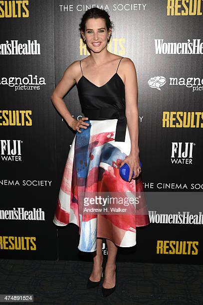 Actress Cobie Smulders attends Magnolia Pictures' Results premiere hosted by The Cinema Society with Women's Health and FIJI Water at Sunshine...