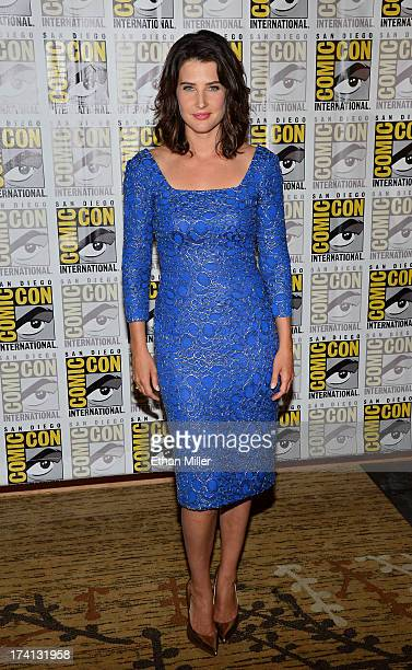 Actress Cobie Smulders attends Marvel's Captain America The Winter Soldier during ComicCon International 2013 at the Hilton San Diego Bayfront Hotel...