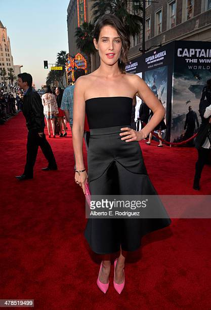 """Actress Cobie Smulders attends Marvel's """"Captain America: The Winter Soldier"""" premiere at the El Capitan Theatre on March 13, 2014 in Hollywood,..."""