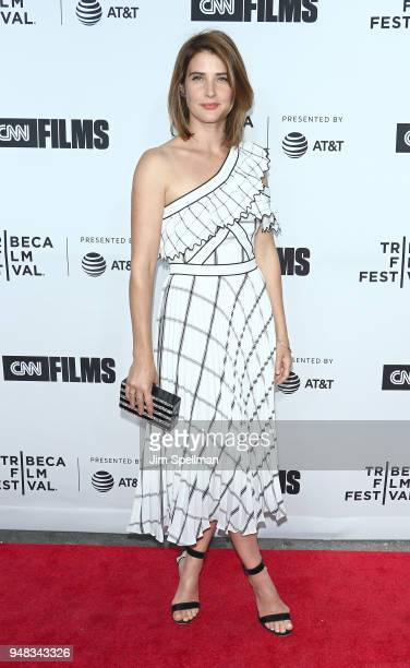 Actress Cobie Smulders attends the 2018 Tribeca Film Festival opening night premiere of 'Love Gilda' at Beacon Theatre on April 18 2018 in New York...