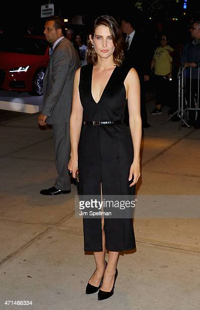 Actress Cobie Smulders attends The Cinema Society Audi host a screening of Marvel's Avengers Age of Ultron at the SVA Theater on April 28 2015 in New...