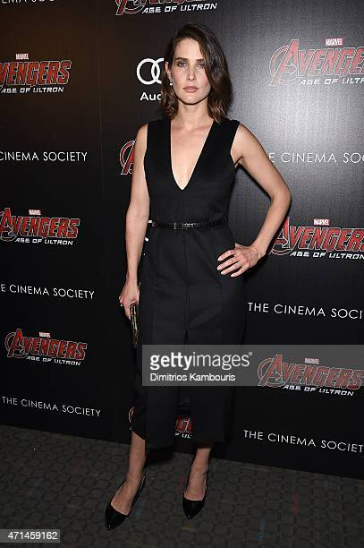 """Actress Cobie Smulders attends The Cinema Society & Audi screening of Marvel's """"Avengers: Age of Ultron"""" at SVA Theater on April 28, 2015 in New York..."""