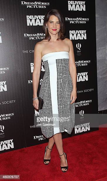 Actress Cobie Smulders attends the DreamWorks Pictures and The Cinema Society screening of Delivery Man at Paley Center For Media on November 17 2013...