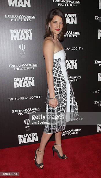 Actress Cobie Smulders attends the DreamWorks Pictures and The Cinema Society screening of 'Delivery Man' at Paley Center For Media on November 17...