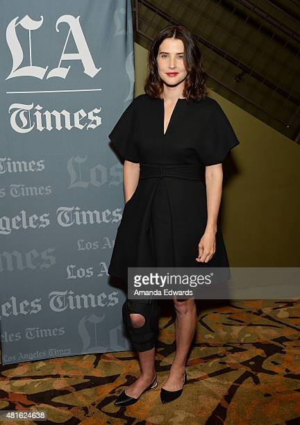 Actress Cobie Smulders attends the Los Angeles Times Indie Focus screening and cast QA of Unexpected at the Sundance Sunset Cinema on July 22 2015 in...