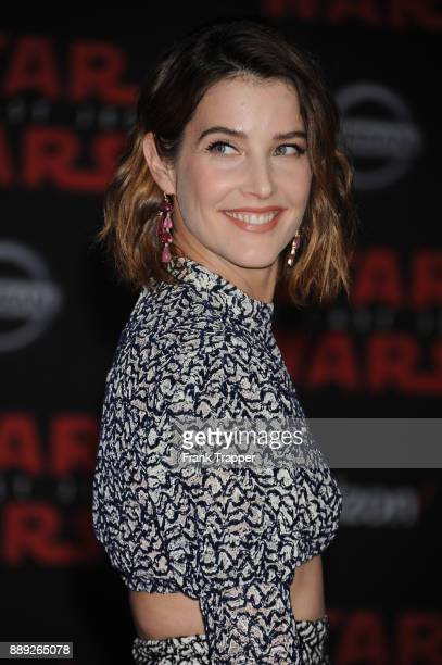 Actress Cobie Smulders attends the premiere of Disney Pictures and Lucasfilm's 'Star Wars The Last Jedi' held at The Shrine Auditorium on December 9...