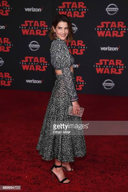 Actress Cobie Smulders attends the premiere of Disney Pictures and Lucasfilm's 'Star Wars The Last Jedi' at The Shrine Auditorium on December 9 2017...