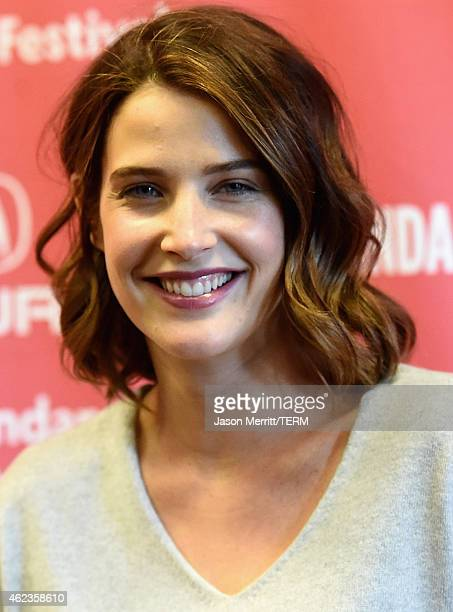 Actress Cobie Smulders attends the Results Premiere during the 2015 Sundance Film Festival at the Eccles Center Theatre on January 27 2015 in Park...