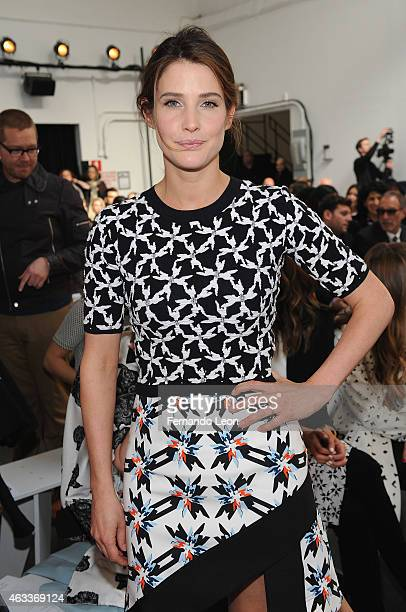 Actress Cobie Smulders attends the Tanya Taylor fashion show at Industria Studios during MercedesBenz Fashion Week on February 13 2015 in New York...