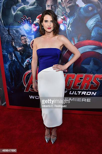 Actress Cobie Smulders attends the world premiere of Marvel's Avengers Age Of Ultron at the Dolby Theatre on April 13 2015 in Hollywood California