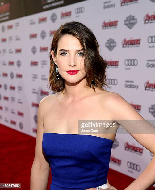 "Actress Cobie Smulders attends the world premiere of Marvel's ""Avengers: Age Of Ultron"" at the Dolby Theatre on April 13, 2015 in Hollywood,..."