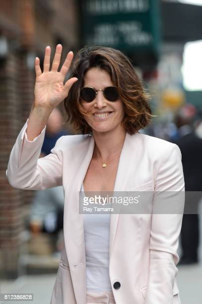 Actress Cobie Smulders enters the The Late Show With Stephen Colbert taping at the Ed Sullivan Theater on July 10 2017 in New York City