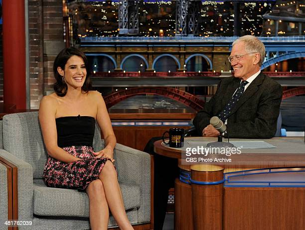 Actress Cobie Smulders from the CBS comedy series 'How I Met Your Mother' talks to Dave about the series finale on the Late Show with David Letterman...