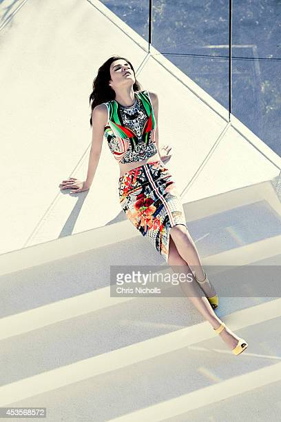 Actress Cobie Smulders is photographed for Fashion Magazine on November 25 2013 in Los Angeles California PUBLISHED