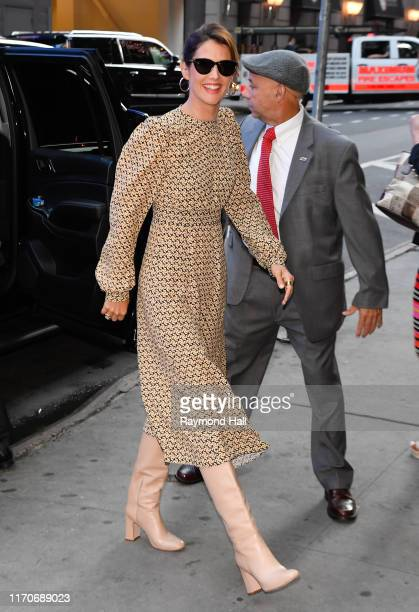 "Actress Cobie Smulders is seen at ""Good Morning America"" on September 24, 2019 in New York City."