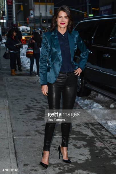Actress Cobie Smulders leaves the 'Late Show With David Letterman' taping at the Ed Sullivan Theater on February 17 2014 in New York City