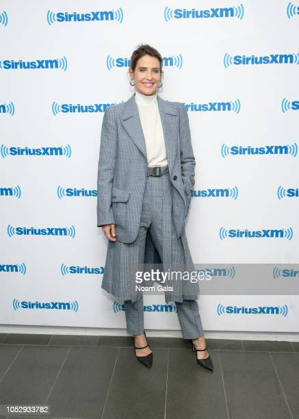 Actress Cobie Smulders visits the SiriusXM Studios on October 24, 2018 in New York City.
