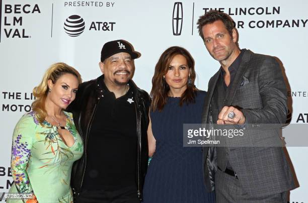 Actress Coco Austin Actor/rapper actress/producer Mariska Hargitay and actor Peter Hermann attend the 'I Am Evidence' screening during the 2017...