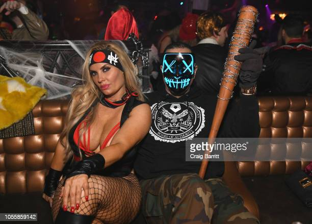 Actress Coco Austin and Musician IceT attend Heidi Klum's 19th Annual Halloween Party Sponsored by SVEDKA Vodka and Party City at Lavo NYC on October...