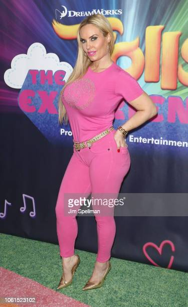 Actress Coco Austin attends the Dreamworks Trolls The Experience opening at Trolls The Experience on November 14, 2018 in New York City.
