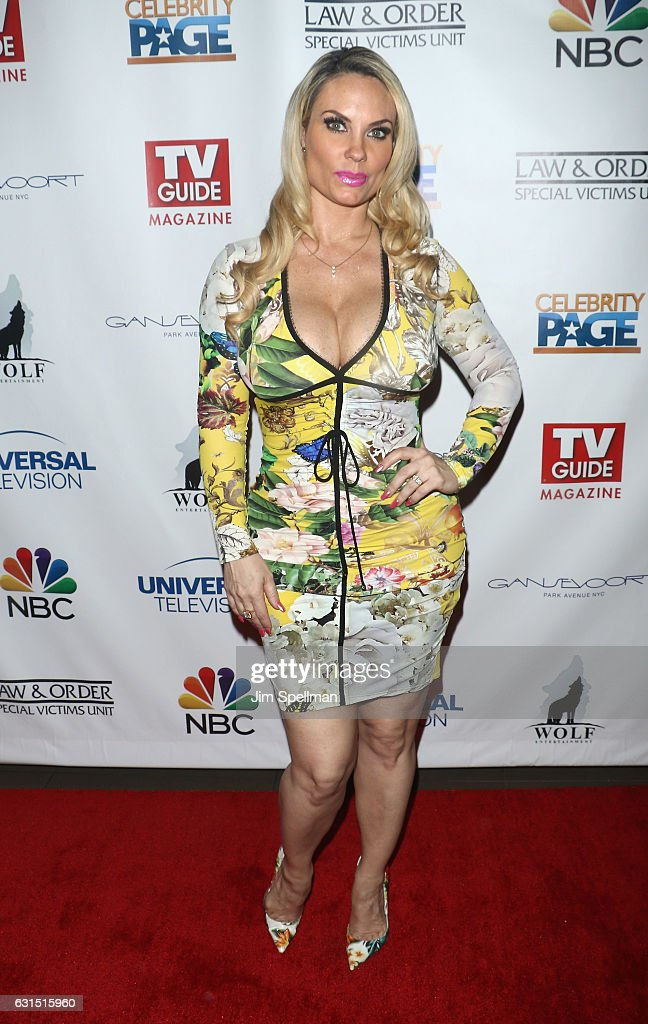Actress Coco Austin attends the TV Guide celebrates Mariska Hargitay at Gansevoort Park Avenue on January 11, 2017 in New York City.