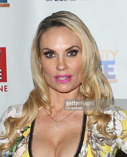Actress Coco Austin attends the TV Guide celebrates Mariska Hargitay at Gansevoort Park Avenue on January 11 2017 in New York City