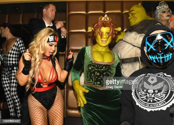Actress Coco Austin Model Heidi Klum Musician Tom Kaulitz and Musician IceT attend Heidi Klum's 19th Annual Halloween Party Sponsored by SVEDKA Vodka...