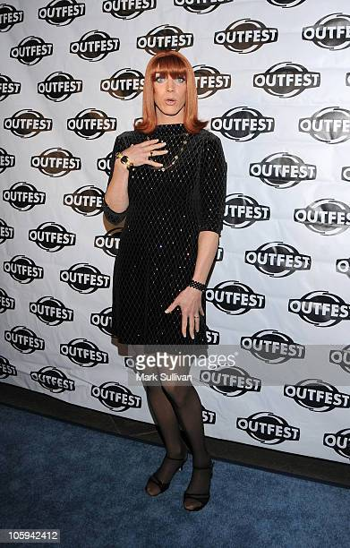 Actress Coco Peru arrives for the Outfest Legacy Awards 2010 at Directors Guild Of America on October 21, 2010 in Los Angeles, California.