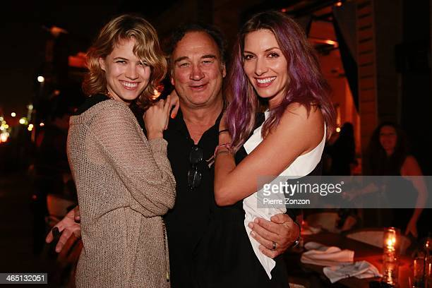 Actress Cody Horn and actor Jim Belushi and actress Dawn Olivieri are seen at Seasalt and Pepper Restaurant on January 25 2014 in Miami Florida