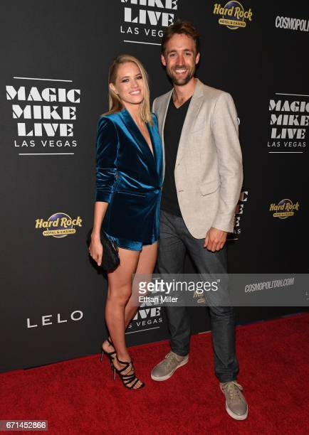 Actress Cody Horn and film producer/director Reid Carolin attend the grand opening of Magic Mike Live Las Vegas at the Hard Rock Hotel Casino on...