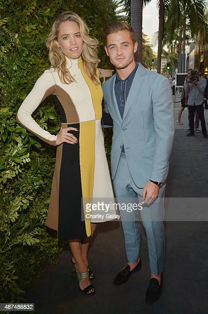 Actress Cody Horn and professional soccer player Robbie Rogers attend as Ferragamo Celebrates 100 Years in Hollywood at the newly unveiled Ferragamo...